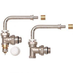 Kit hydrocâblé HC-RE RA-IN - equerre - à glissement - coude orientable - D12 simple panneau DANFOSS