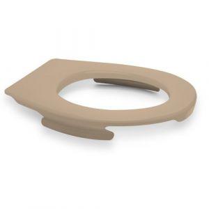 Lunette wc clipsable - 100 % hygiénique - beige PAPADO