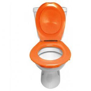 Lunette et abattant Wc clipsable - Orange PAPADO