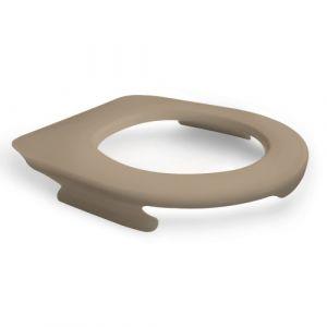 Lunette de wc suspendu clipsable - 100 % hygiénique - beige PAPADO
