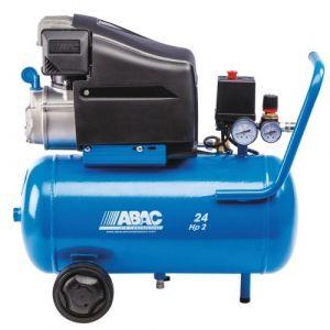 Compresseur d'air à piston lubrifié 24 litres 2 CV - Pole Position L20 ABAC