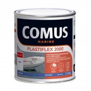 Peinture souple pour pneumatiques - blanc - 0,50 L - Plastiflex 2000 COMUS