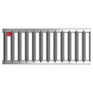 Caniveaux avec grilles passerelles - sans pentes - Hexaline 100 / Acier inoxydable ACO PASSAVANT