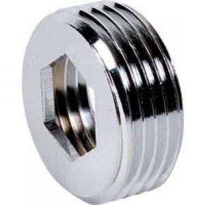 Doublure laiton mâle / femelle avec butée intérieure Ø 15/21 Ø 12/17 chromé BRICOZOR