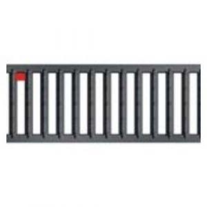 Caniveaux avec grilles passerelles - sans pentes - Hexaline 100 / Acier galvanisé anthracite ACO PASSAVANT