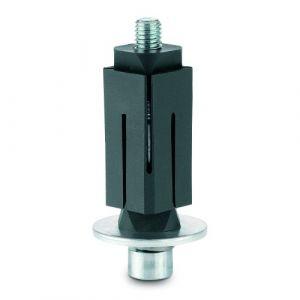 Fixations expansibles 21,5-24mm pour roulettes - carré - inox TENTE