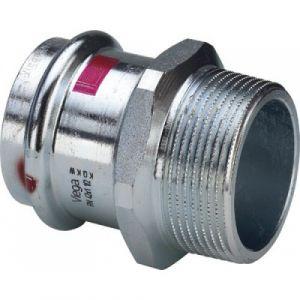 Mamelon électrozingué femelle diamètre 18 à sertir fileté mâle 20/27 VIEGA