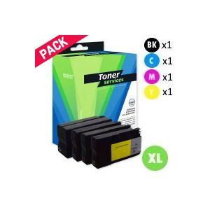 Equivalent HP 932XL/933XL Pack 4 Cartouches Noir et couleurs (C2P42AE)