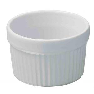 Moule à soufflé individuel blanc diamètre 8,2 cm - h 5,2cm- 16 cl