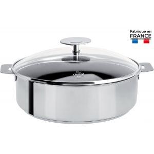 Sauteuse 28 cm inox Mutine amovible revêtu Excalibur sans couverc...