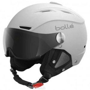 Bolle Backline Soft White With Silver Gun Visor + Lemon Visor
