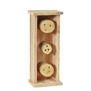 Abri pour abeilles solitaires coloris bois