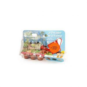 Coffret jardinage enfant 'Le potager de la ferme' orange