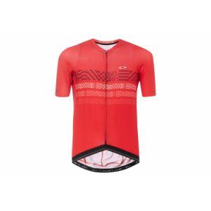 Maillot manches courtes oakley endurance rouge s