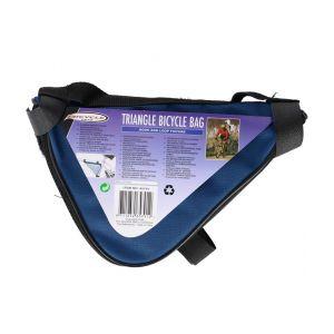 Sacoche triangle pour cadre de velo bleu