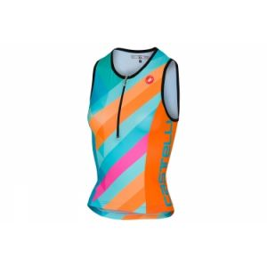 Debardeur triathlon femme castelli 2018 core 2 bleu orange xs