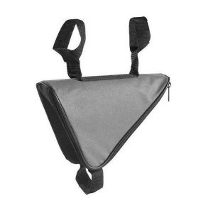 Sacoche triangle pour cadre de velo gris