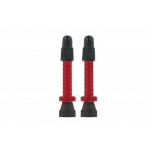 Var kit 2 valves tubeless aluminium 35 mm rouge