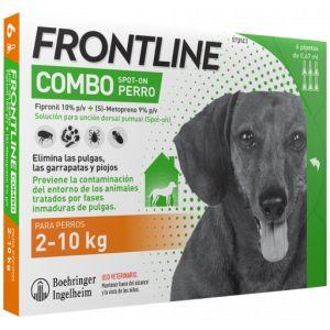 Frontline Pipettes Spot Combo Race De Petite Taille 2-10 Kg 3 Pipettes