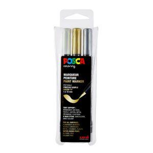 Marqueur PCF-350 pointe pinceau or - argent - doré