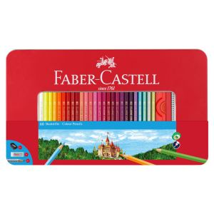 Crayon de couleur Boite Métal Château 60 pièces