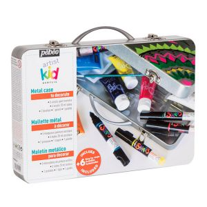 Mallette métal Artist Kid marqueurs + peinture acrylique