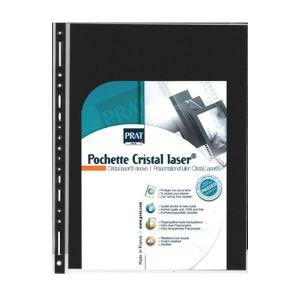 Pochette Cristal Laser A4 par 10 compatible classeur standard 21 x 29,7 cm (A4)