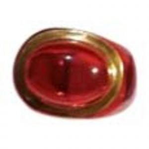 Bague BACCARAT verre rouge 51
