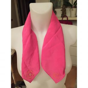 Foulard CACHAREL soie rose
