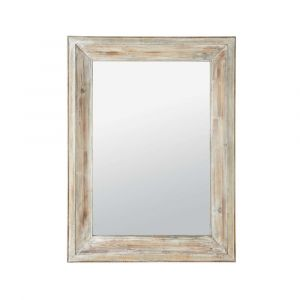 Miroir cadre bois brut comparer 17 offres for Grand miroir bois brut