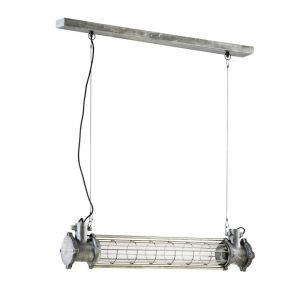 Suspension indus en verre et métal L90