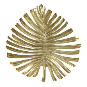 Applique feuille en métal doré