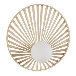 Applique en bambou et verre opaline