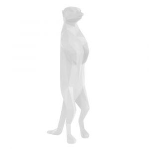 Statue origami blanche suricate H31,7cm