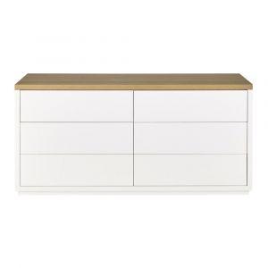 commode blanche 6 tiroirs comparer 66 offres. Black Bedroom Furniture Sets. Home Design Ideas