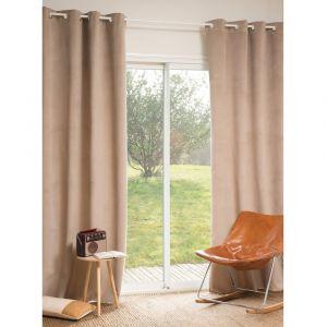 elegant annonce chez maisons du monde rideau illets beige. Black Bedroom Furniture Sets. Home Design Ideas