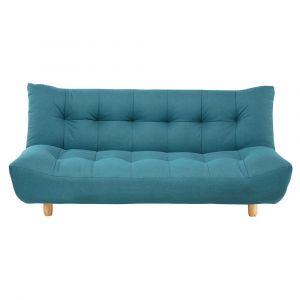 Canapé clic-clac capitonné 3 places bleu turquoise Cloud