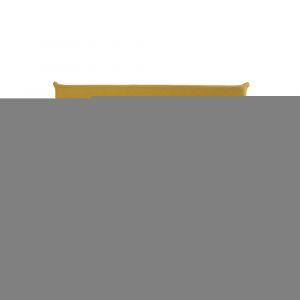 Banquette convertible 2 places jaune moutarde Nio
