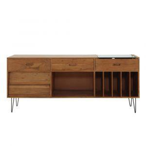 Buffet meuble à vinyles en acacia massif Gimmick