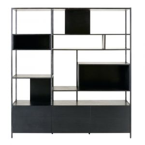 bibliotheque metal noir comparer 274 offres. Black Bedroom Furniture Sets. Home Design Ideas
