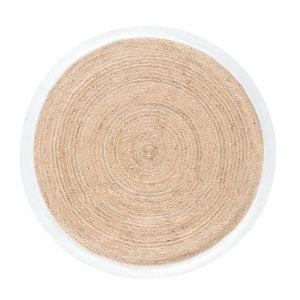 tapis blanc rond noir comparer 200 offres. Black Bedroom Furniture Sets. Home Design Ideas
