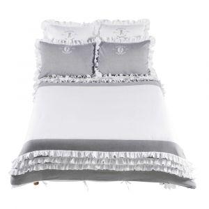 Parure de lit 240 x 260 cm en coton blanche RAPHAEL