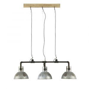 Suspension triple indus en métal et manguier