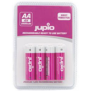 Piles AA Jupio Direct Power Plus 2500mAh - 4 unités