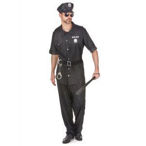Déguisement policier noir homme - Taille: M