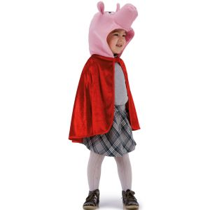 Cape cochon rouge enfant