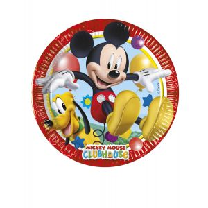 8 Petites assiettes en carton Mickey Mouse 20 cm