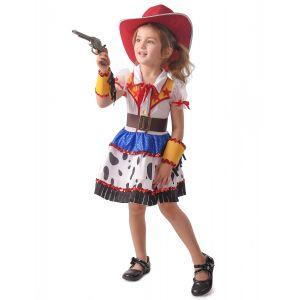 Déguisement cowgirl dessin animé fille - Taille: M 7-9 ans (120-130 cm)
