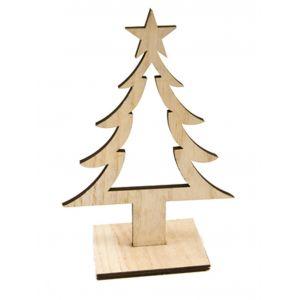 Décoration Sapin de Noël en bois 25 cm