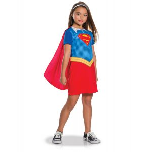 Déguisement classique Supergirl fille - Taille: 5 à 6 ans (105 à 116 cm)